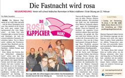Allgemeine Zeitung: Die Fastnacht wird Rosa