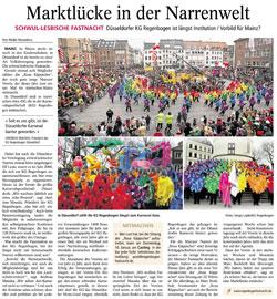 Allgemeine Zeitung: Marktlücke in der Narrenwelt