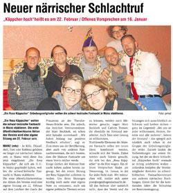 Mainzer Wochenblatt: Neuer närrischer Schlachtruf