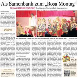 """Allgemeine Zeitung: Als Samenbank zum """"Rosa Montag"""""""