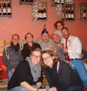 Gründungsmitglieder der Rosa Käppscher am 11.11.2013
